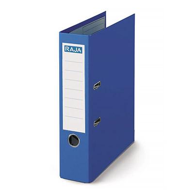 Classeur à levier Pergamy - polypropylène intérieur/extérieur - dos 8 cm - A4 - bleu foncé