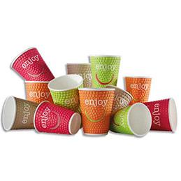 Gobelet Enjoy spécial boissons chaudes - 20 cl - coloris assortis - sachet de 35 (photo)