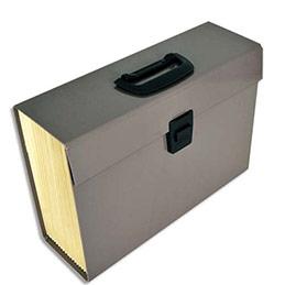 Trieur Premium Pierre henry - en carton renforcé - 20 compartiments - taupe