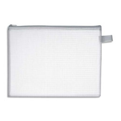 Pochette zippée en PVC renforcé semi-transparente - format 19 x 25 cm (photo)