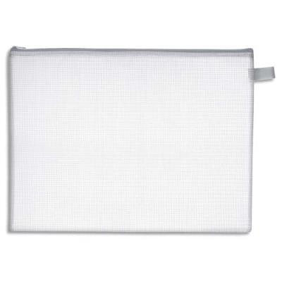 Pochette navette zippée en PVC renforcé semi-transparente - format 26 x 34,5 cm (photo)