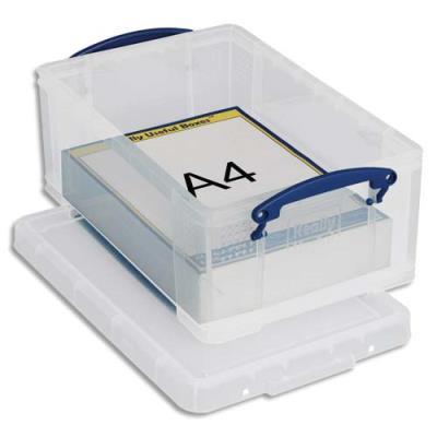 Boîte de rangement avec couvercle - 9 L - L39,5 x H15,5 x P25,5 cm - transparent (photo)