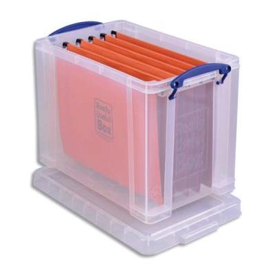 Boîte de rangement avec couvercle - 19 L - L39,5 x H29 x P25,5 cm - transparent (photo)