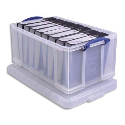 Boîte de rangementavec couvercle - 64 L - L71 x H31 x P44 cm - transparent