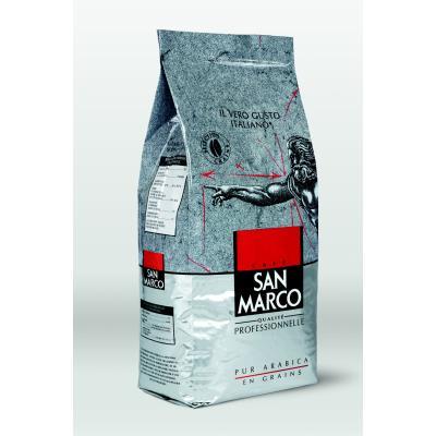 Café en grains 100% Arabica San Marco - intensité 7 - paquet de 1kg