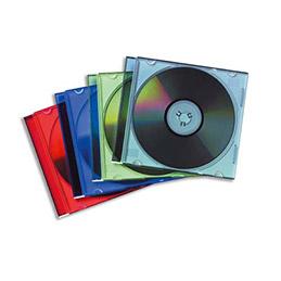 Boîtiers CD slim - coloris assortis - lot de 25 (photo)