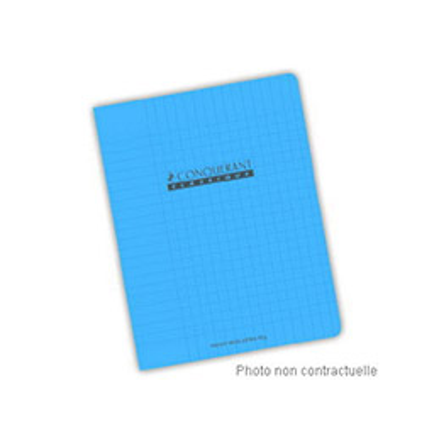 Cahier Conquérant 7 - 17 x 22 cm - reliure piquée - grands carreaux - 96 pages - 70 g