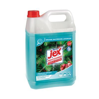 Nettoyant multi-usages désinfectant Jex Express - destructeur d'odeurs - parfum jardin exotique - bidon de 5L (photo)