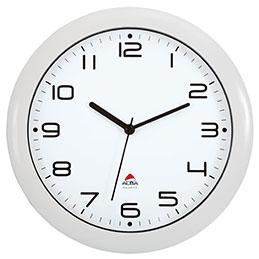 horloge murale alba hornew silencieuse mouvement quartz blanc achat pas cher. Black Bedroom Furniture Sets. Home Design Ideas
