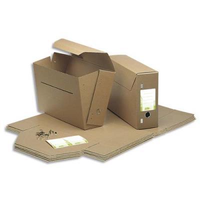 Boîte à archives communales Jalema - dos 11,5 cm - en carton kraft naturel