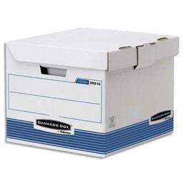 Conteneurs cube Bankers Box System - 35 x 28 x 35cm - montage automatique - lot de 2