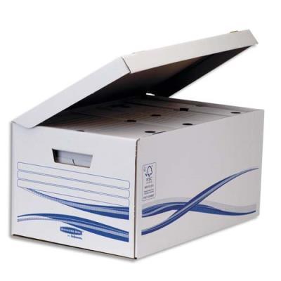 Conteneurs à ouverture sur le dessus Bankers Box Basique - montage manuel - lot de 5