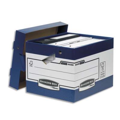 Caisse multi-usage ergonomique à montage automatique Bankers Box - 33,3 x 28,5 x 39cm - carton recyclé
