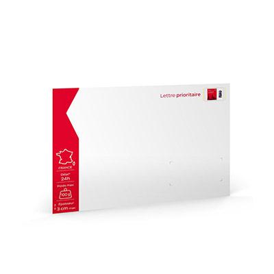 Enveloppes pré-timbrées - lettre prioritaire - 229 x 324 cm - 100g - soumis à conditions - paquet 10 unités
