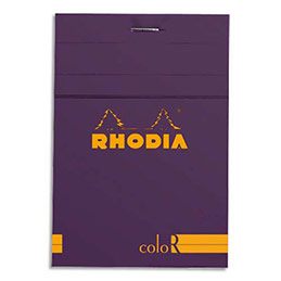 Bloc de bureau Rhodia ColoR n°12 - 8,5x12 cm - 140 pages - 90g - ligné - violet (photo)