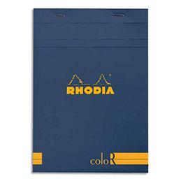 Bloc de bureau Rhodia ColoR n°16 - 14,8x21 cm - 140 pages - 90g - ligné - saphir (photo)
