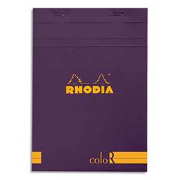 Bloc de bureau Rhodia ColoR n°16 - 14,8x21 cm - 140 pages - 90g - ligné -  violet (photo)