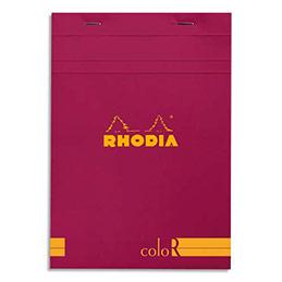 Bloc de bureau Rhodia ColoR n°16 - 14,8x21 cm - 140 pages - 90g - ligné - framboise (photo)