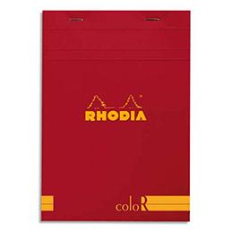 Bloc de bureau Rhodia ColoR n°16 - 14,8x21 cm - 140 pages - 90g - ligné - coquelicot (photo)
