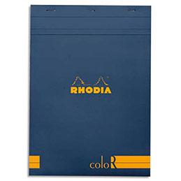 Bloc de bureau Rhodia ColoR n°18 - 21x29,7 cm - 140 pages - 90g - ligné - saphir (photo)