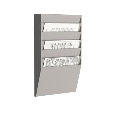 Trieur mural horizontal Paperflow- 6 cases - A4 - gris