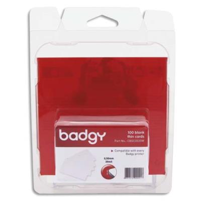 Lot 100 de cartes PVC fines Badgy - 20mil - 0,50mm (photo)
