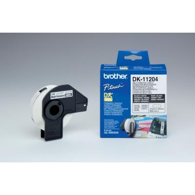 Etiquettes multi-usages - Brother DK11209 - Noir et Blanc - 29 x 62 mm