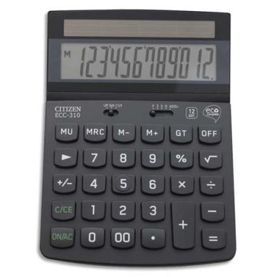 Calculatrice de bureau Citizen ECC 310 ECO - 12 chiffres - certifiée Blue Angel 70% recyclé (photo)