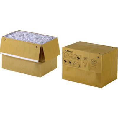 Sacs en papier recyclé pour destructeurs de documents - 50 L - marron - paquet 50 unités