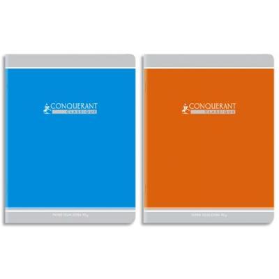 Cahier Conquérant - Piqûre 17x22 cm - 96 pages- grands carreaux