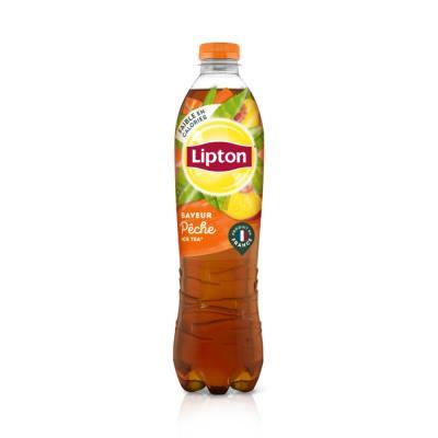 Boisson au thé Lipton - saveur pêche - bouteille de 1,5 L (photo)