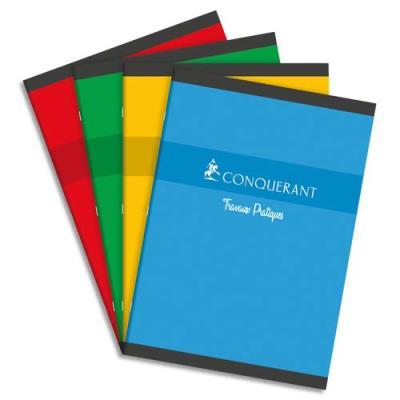 Cahiers travaux pratiques Conquérant 7 - 21x29,7 cm - 48 pages grands carreaux + 48 pages dessin
