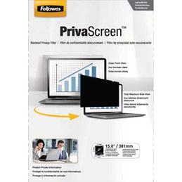 Filtre de confidentialité Fellowes PrivaScreen standard pour ordinateurs fixes et portables 15'' - format 4/3 (photo)
