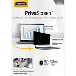 Filtre de confidentialité Fellowes PrivaScreen panoramiques pour ordinateurs fixes et portables 13,3'' - format 16/9 (photo)