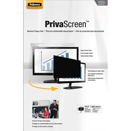 Filtre de confidentialité Fellowes PrivaScreen panoramiques pour ordinateurs fixes et portables 19'' - format 4/3 (photo)