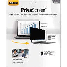Filtre de confidentialité Fellowes PrivaScreen panoramiques pour ordinateurs fixes et portables 17,3'' - format 16/9 (photo)