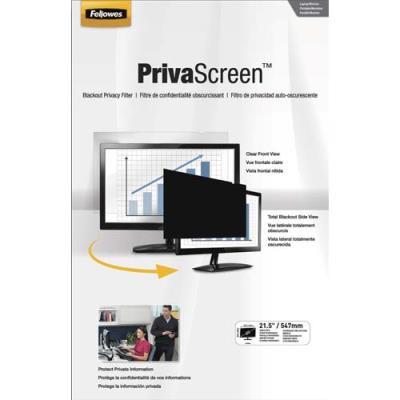 Filtre de confidentialité Fellowes PrivaScreen panoramiques pour ordinateurs fixes et portables 21,5'' - format 16/9 (photo)