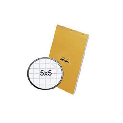 Bloc Rhodia n°14 - Couverture Orange - Format 11 x 17 cm réglure 5x5 80 grammes 14200 (photo)