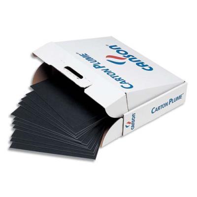 Feuille de carton plume Classic Canson - 5mm - 50x65 cm - noir photo (photo)