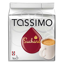 Sachet 16 dosettes pour Tassimo Tdisk chocolat Suchard (photo)