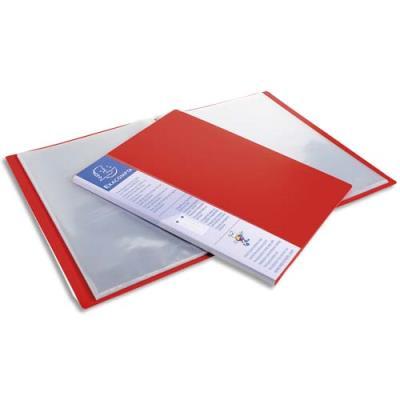 Protège-documents Exacompta Up Line - spécial classement vertical - 20 pochettes / 40 vues - rouge