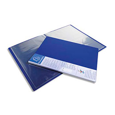 Protège-documents Exacompta Up Line - spécial classement vertical - 30 pochettes / 60 vues - bleu
