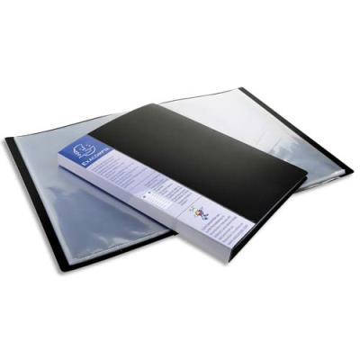 Protège-documents Exacompta Up Line - spécial classement vertical - 40 pochettes / 80 vues - noir