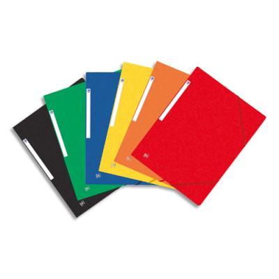Chemise 3 rabats élastiques Elba Topfile - carte lustrée - coloris assortis (photo)