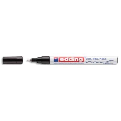 Marqueur peinture à l'huile Edding - pointe fine 0,8 mm - laquée noir