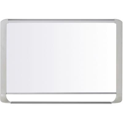 Tableau blanc émaillé Bi-Office Mastervision avec auget - 120 x 90 cm