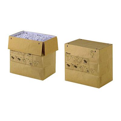 Sacs en papier recyclé pour destructeurs de documents - 23 L - marron - lot de 20 sacs