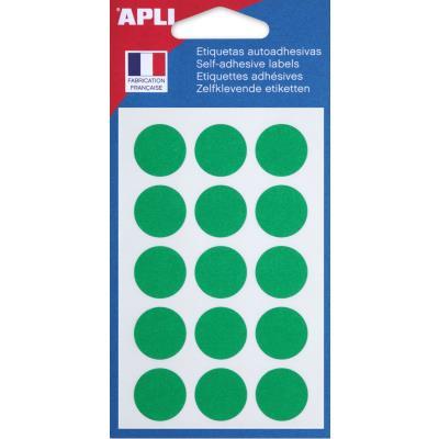 Pastilles adhésives de couleur Agipa - Ø 19 mm - blister 90 unités - coloris vert