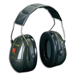 Casque antibruit Peltor Optime II - serre-tête réglable - atténuation 31 db (photo)
