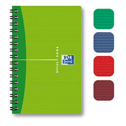 Carnet Oxford Office - spirales - couverture souple - format 11x17cm - 180 pages - réglure 5x5
